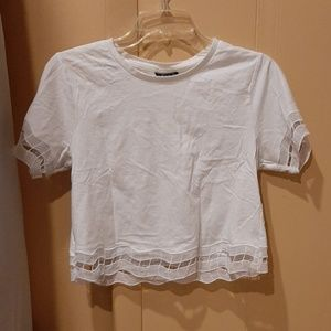 Topshop cropped tee with cutout detail